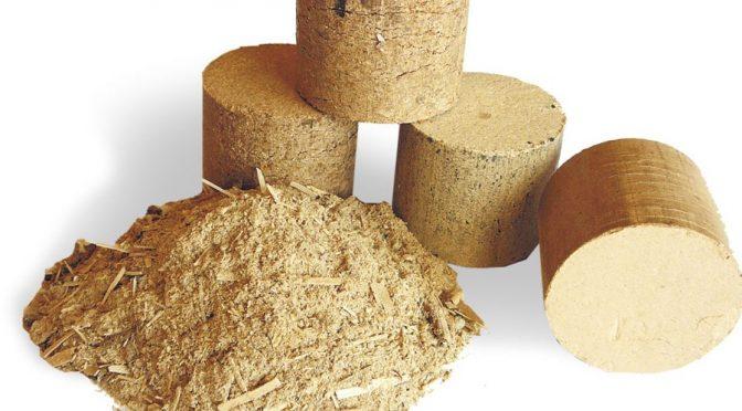 Profesjonalna produkcja brykietu drzewnego.