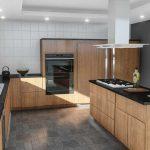 Zabudowana lodówka w kuchni